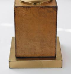 American 1960s Leather clad and Brass Table Lamp - 1828423