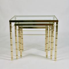 American 1960s nest of three brass tables - 1463844