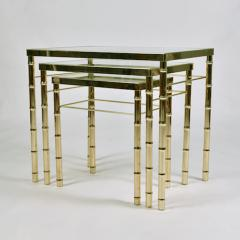 American 1960s nest of three brass tables - 1463845