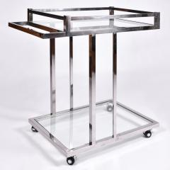 American 1970s chrome drinks serving trolley - 1463701