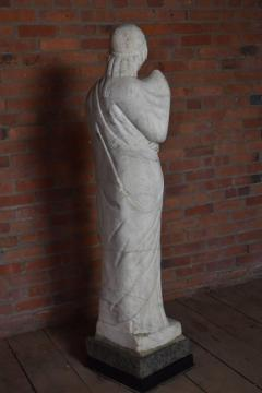 American 19th Century Greek Revival Marble Statue - 670681