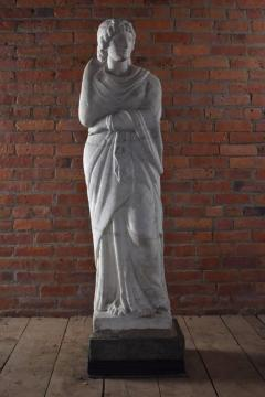 American 19th Century Greek Revival Marble Statue - 670684