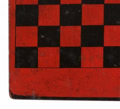 American Checker Board with Great Polychrome Painted Surface - 639095