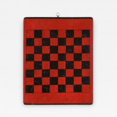 American Checker Board with Great Polychrome Painted Surface - 639635