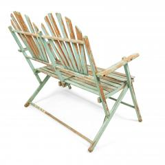 American Country Outdoor Folding Bench - 1404376