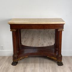 American Empire Mahogany Console Table Circa 1830 - 1400869