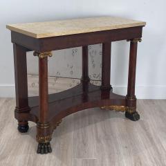 American Empire Mahogany Console Table Circa 1830 - 1400870