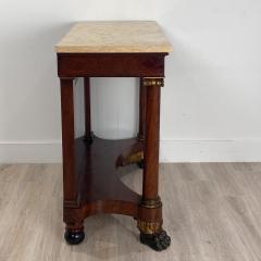 American Empire Mahogany Console Table Circa 1830 - 1400871