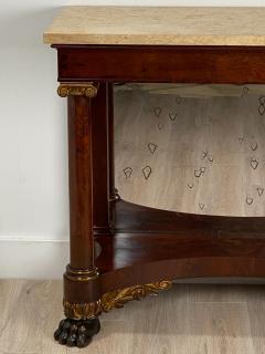 American Empire Mahogany Console Table Circa 1830 - 1400872