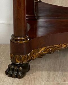 American Empire Mahogany Console Table Circa 1830 - 1400873
