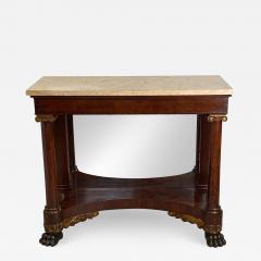 American Empire Mahogany Console Table Circa 1830 - 1405529