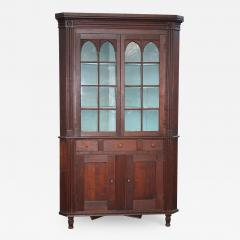 American Federal Cherrywood Corner Cupboard - 1467509