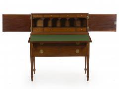 American Federal Inlaid Mahogany Antique Secretary Writing Desk ca 1790 1810 - 1091387