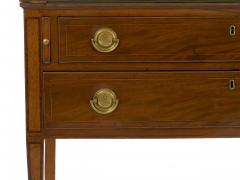 American Federal Inlaid Mahogany Antique Secretary Writing Desk ca 1790 1810 - 1091392