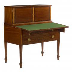 American Federal Inlaid Mahogany Antique Secretary Writing Desk ca 1790 1810 - 1091396