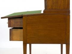 American Federal Inlaid Mahogany Antique Secretary Writing Desk ca 1790 1810 - 1091398