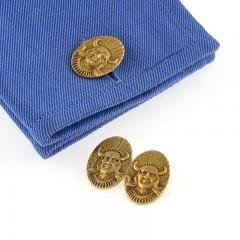 American Gold Indian Portrait Cuff Links - 112465