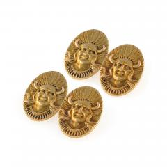 American Gold Indian Portrait Cuff Links - 114751