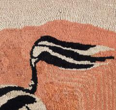 American Hooked Rug Depicting a Zebra - 1847810