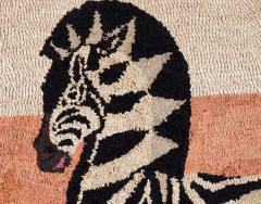 American Hooked Rug Depicting a Zebra - 1847811