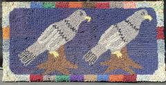 American Hooked Rug of Two Birds - 1617947