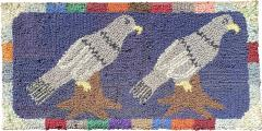 American Hooked Rug of Two Birds - 1618934