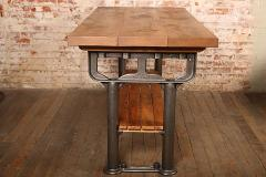 American Made Vintage Industrial Work Table Island   311322