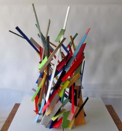 American Modern Abstract Expressionist Mixed Media Sculpture Moshe Y - 2100470