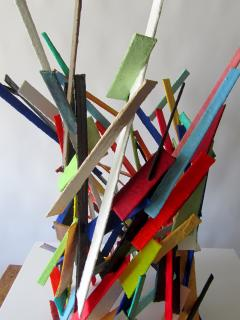 American Modern Abstract Expressionist Mixed Media Sculpture Moshe Y - 2100472