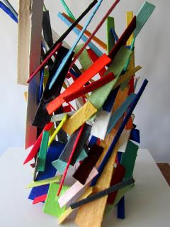 American Modern Abstract Expressionist Mixed Media Sculpture Moshe Y - 2100473
