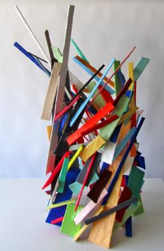 American Modern Abstract Expressionist Mixed Media Sculpture Moshe Y - 2100476