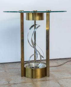 American Modern Chrome Brass and Glass Side Table Fontana Arte 1960s - 2108215