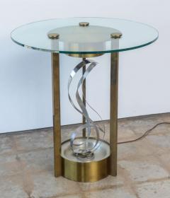 American Modern Chrome Brass and Glass Side Table Fontana Arte 1960s - 2108216