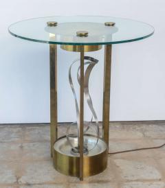 American Modern Chrome Brass and Glass Side Table Fontana Arte 1960s - 2108218