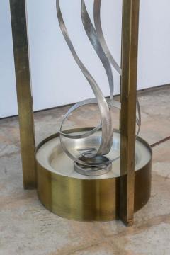 American Modern Chrome Brass and Glass Side Table Fontana Arte 1960s - 2108219