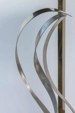 American Modern Chrome Brass and Glass Side Table Fontana Arte 1960s - 2108222