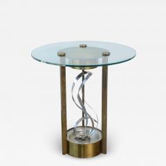 American Modern Chrome Brass and Glass Side Table Fontana Arte 1960s - 2109205