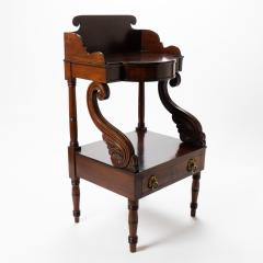American Neo Classic mahogany wash stand - 1718814