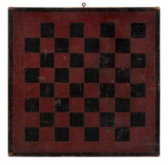 American Parcheesi Board with Great Polychrome Painted Surface - 577649