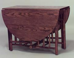 American Rustic Old Hickory Drop Leaf Dining Table