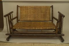 American Rustic Old Hickory Porch Glider Loveseat