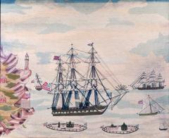 American Sailors Woolwork Depicting Ten Naval Vessels - 1728018