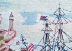 American Sailors Woolwork Depicting Ten Naval Vessels - 1728019