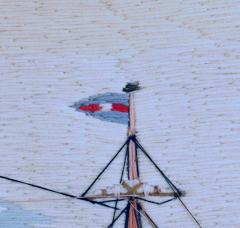 American Sailors Woolwork Depicting Ten Naval Vessels - 1728020
