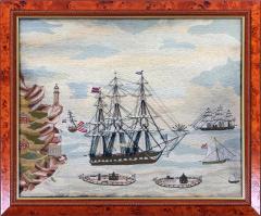 American Sailors Woolwork Depicting Ten Naval Vessels - 1728021