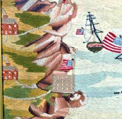 American Sailors Woolwork Depicting Ten Naval Vessels - 1728023