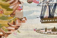 American Sailors Woolwork Depicting Ten Naval Vessels - 1728024