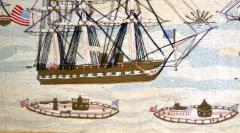 American Sailors Woolwork Depicting Ten Naval Vessels - 1728025