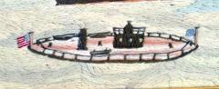 American Sailors Woolwork Depicting Ten Naval Vessels - 1728026