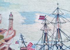 American Sailors Woolwork Depicting Ten Naval Vessels - 1728027
